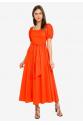 Mix Red Orange Dress