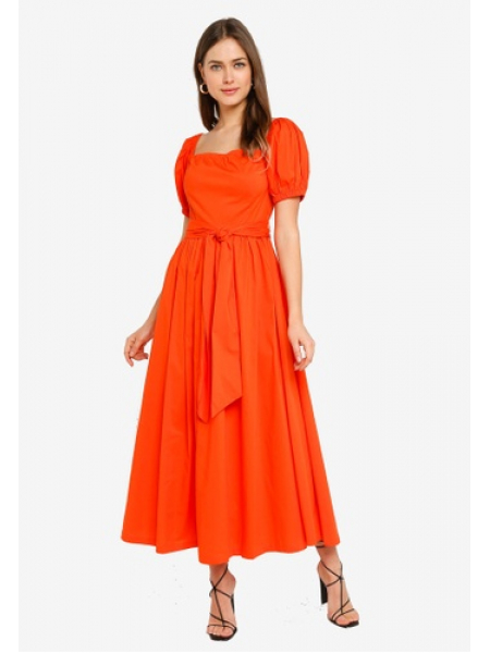 Mix Red Orange Dress