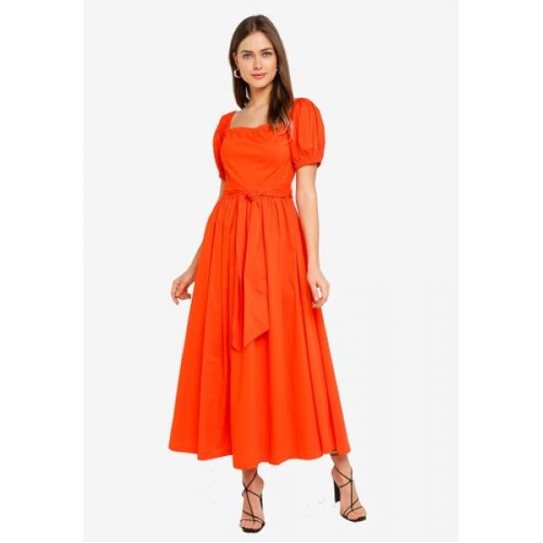 Mix Red Orange Dress Mix Red Orange Dress