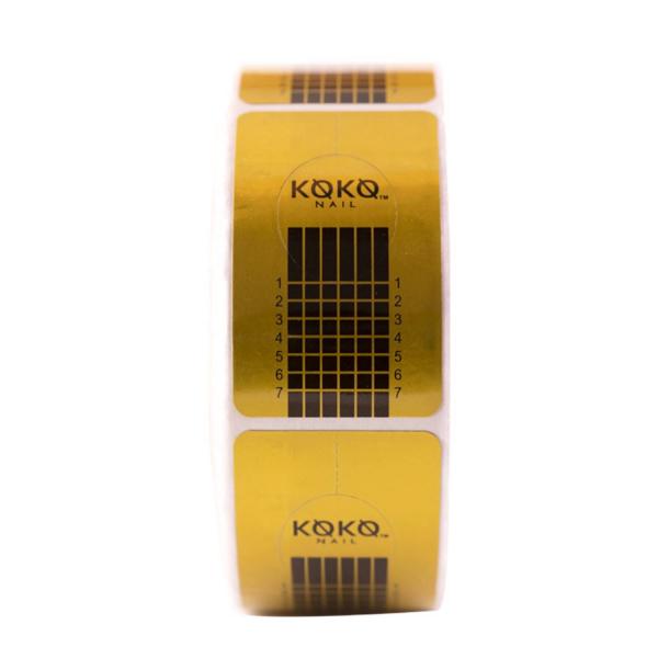 Koko Naıl Protez Tırnak Şablonu ( 500 Adet ) Sarı