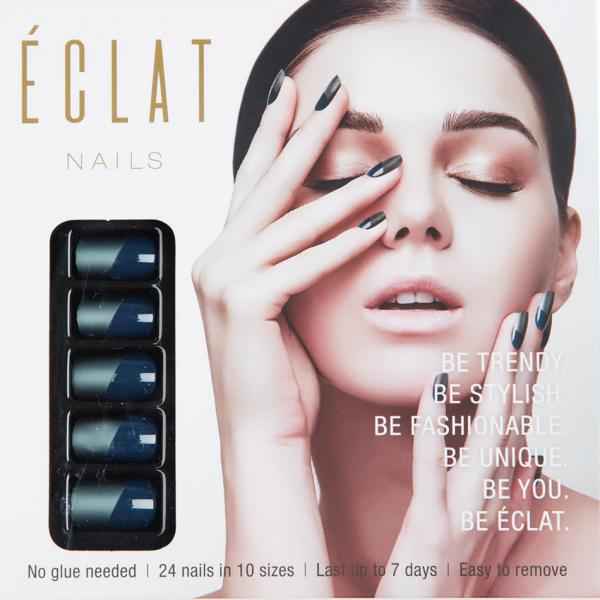 ECLAT NAILS Eclat Takma Tırnak ( Metalik Mat Mavi )