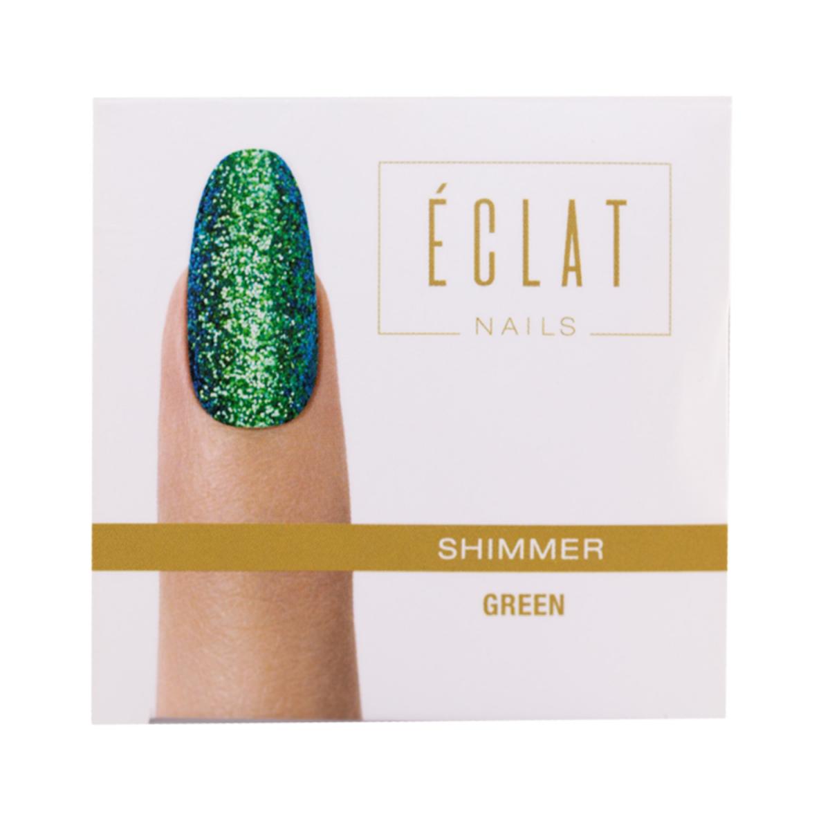 Eclat Nails Tırnak Simi ( Shimmer Green ) 5gr
