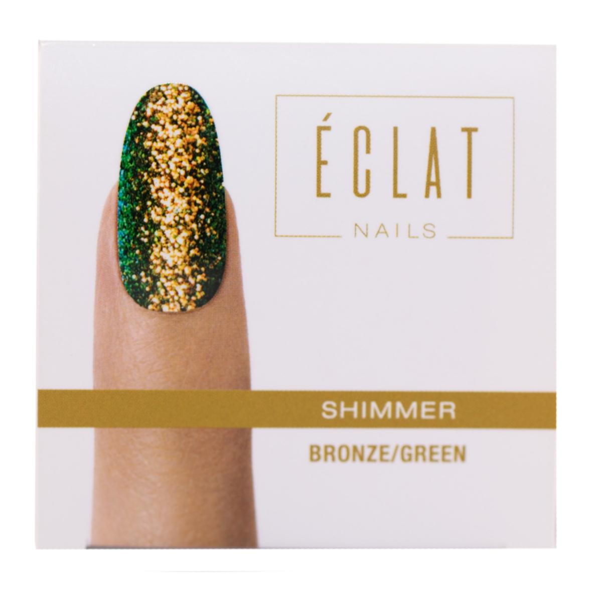 Eclat Nails Tırnak Simi ( Shimmer Bronze Green ) 5gr
