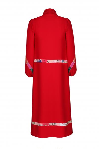 Boğazlı Elbise (Kırmızı)