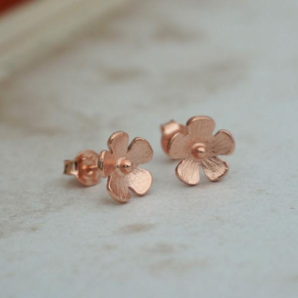 Mini Çiçek Küpe - Rose Mini Çiçek Küpe - Rose