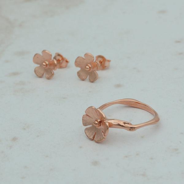 Mini Çiçek Yüzük - Rose Mini Çiçek Yüzük - Rose