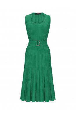 Waisted Dress Green