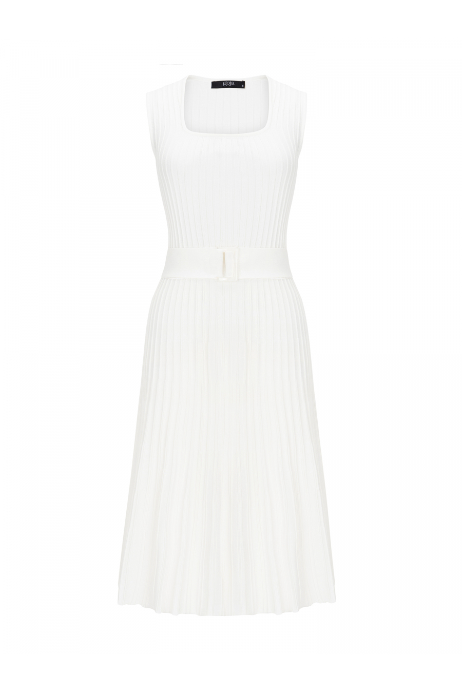 Waisted Dress White