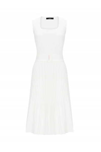 Waisted Dress White