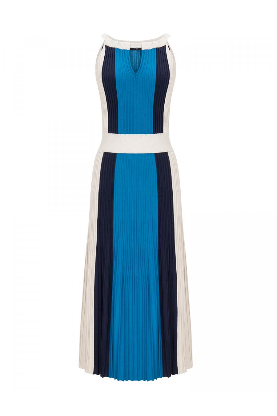 Three Color Dress Blue