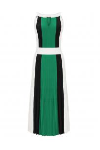 Three Color Dress Green