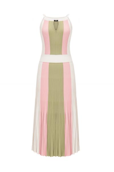 Three Color Dress Pink