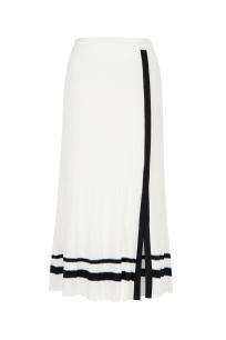 Strip Skirt White