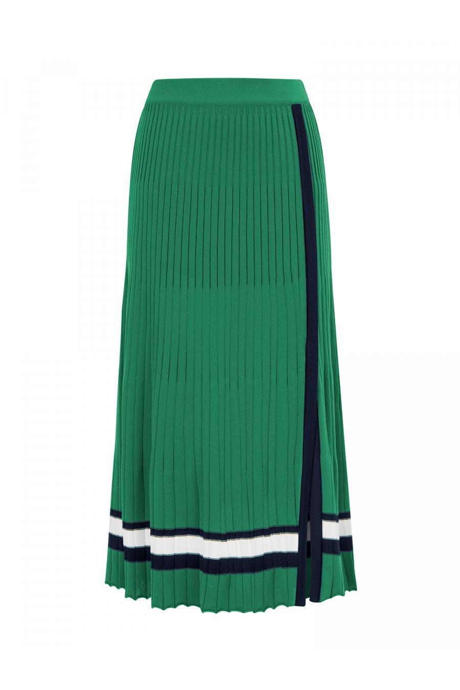 Strip Skirt Green
