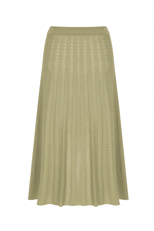 Maxi Stitch Skirt Khaki