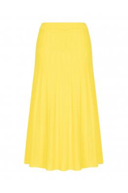 Maxi Stitch Skirt Yellow