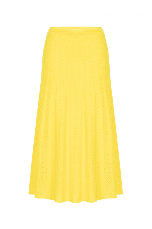 Maxi Stitch Skirt Yellow