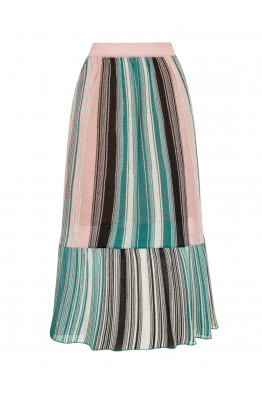 Silvery Maxi Skirt Green