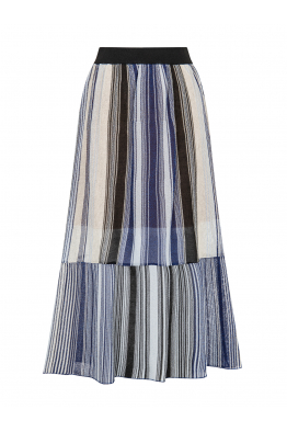 Silvery Maxi Skirt Blue