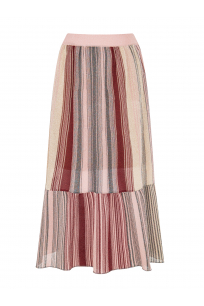 Silvery Maxi Skirt Pink