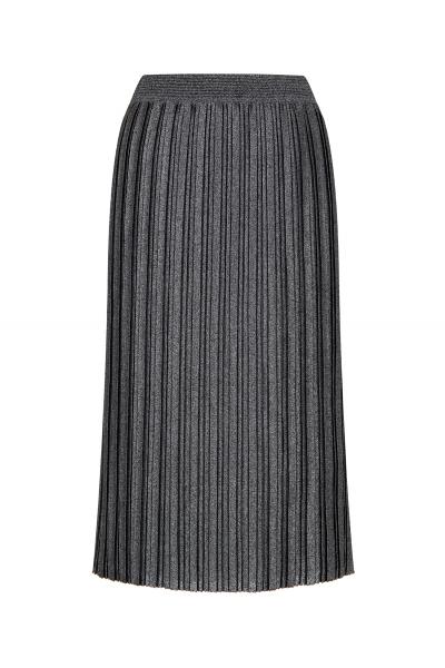 Silvery Pleated Skirt Black