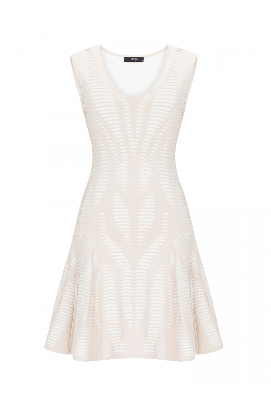 Hollow Dress Beige