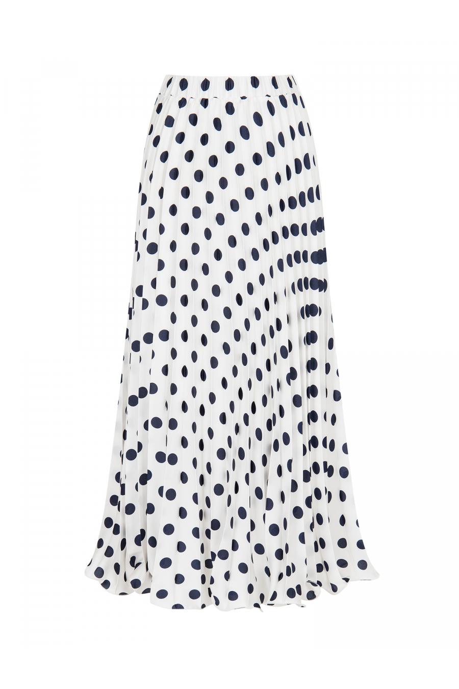 Polka Dot Skirt White