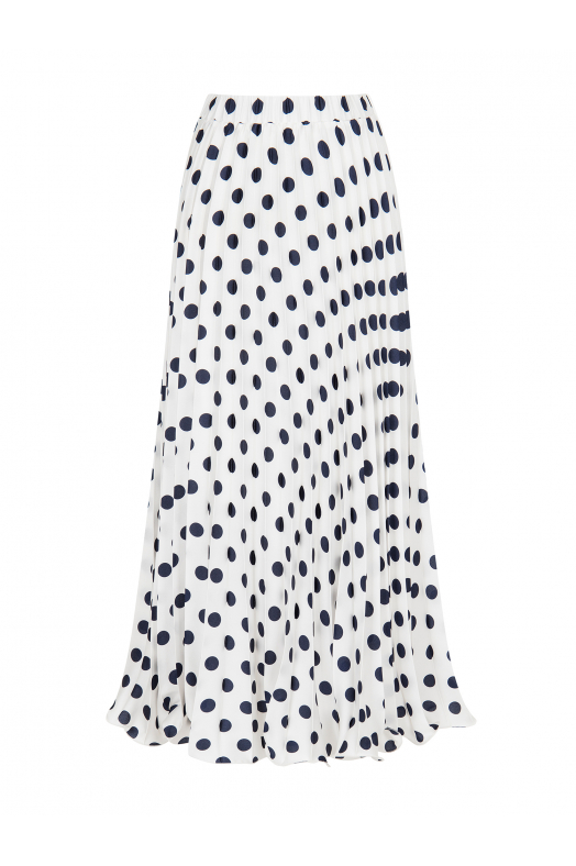 Polka Dot Skirt White