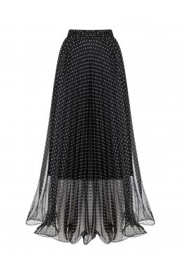 Polka Dot Skirt Black