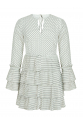 Pleated Dotted Dress