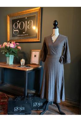 Crosswise Dress Mink