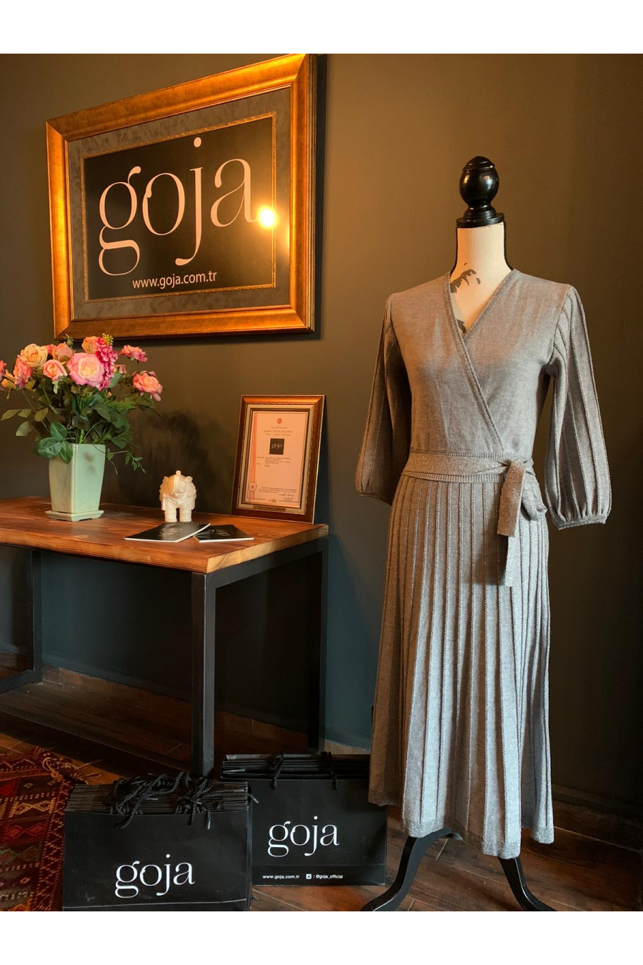 Crosswise Dress Grey