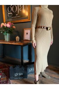Knit Dress Beige
