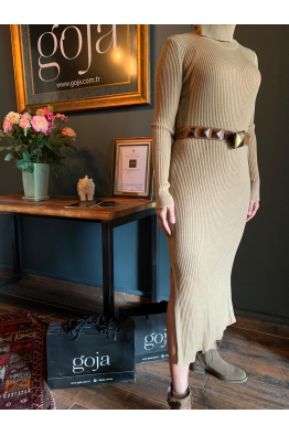 Knit Dress Beige