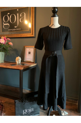 Belted Dress Black