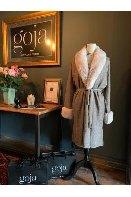 Fur Cardigan Grey