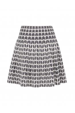 Relief Skirt Purple