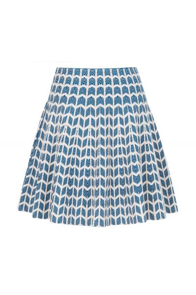 Relief Skirt Blue
