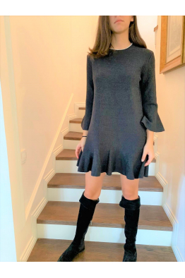 Flounced Dress Coal