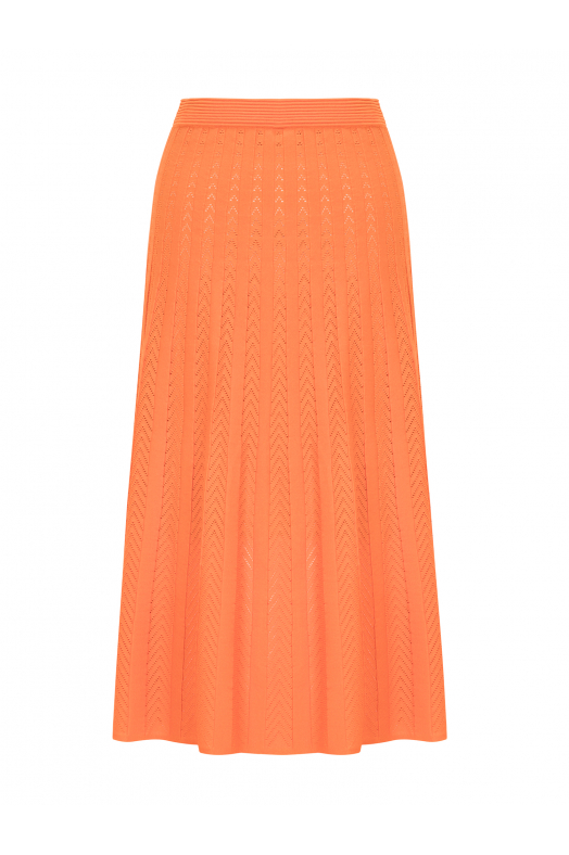 Maxi Stitch Skirt Orange