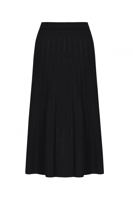 Maxi Stitch Skirt Black