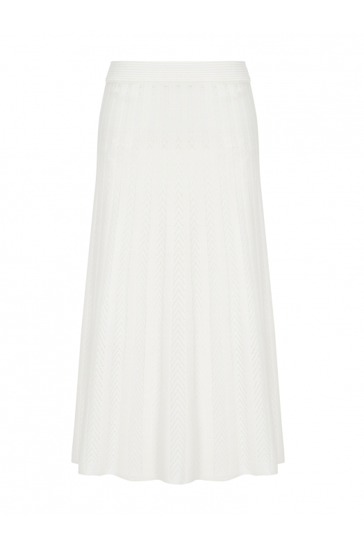 Maxi Stitch Skirt White
