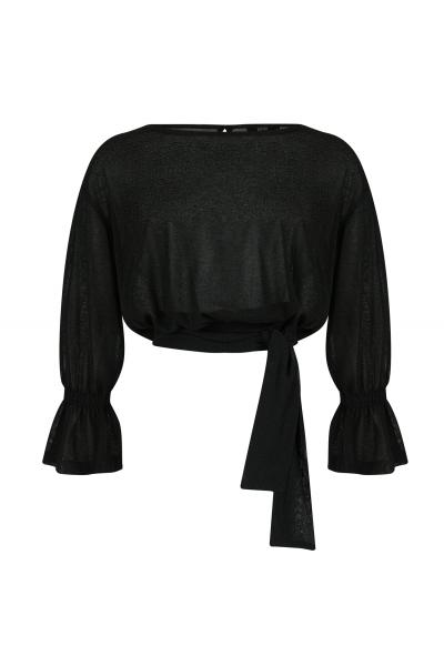Openback Blouse Black