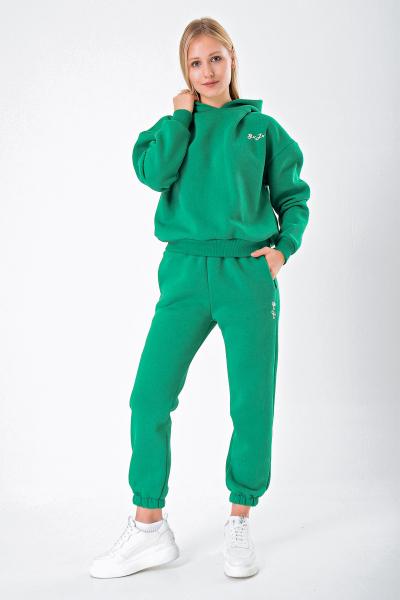 Yüksek Bel Yeşil Eşofman Altı