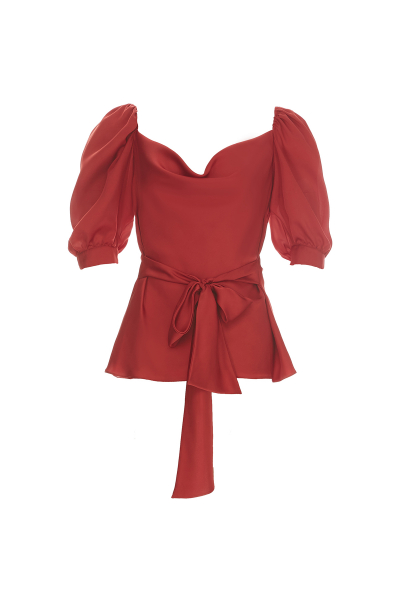 NEW SEASON RED BLOUSE