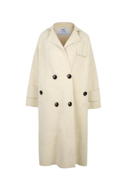 Coat Iconic Cashmere Blend - Ecru Coat Iconic Cashmere Blend - Ecru