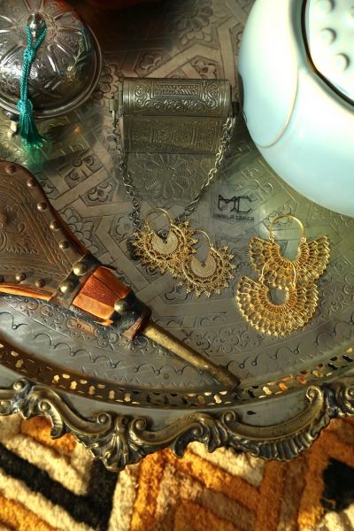 Earring -  Totem #9  - Gold Plated Earring -  Totem #9  - Gold Plated
