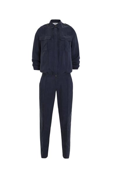 Jumpsuit - Vegan Fabric -  Petrol Blue - Bordeaux Jumpsuit - Vegan Fabric -  Petrol Blue - Bordeaux