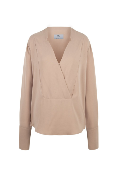 Top - Crepe Wrap V-Neck - Salmon -  Many Colors On Demand Top - Crepe Wrap V-Neck - Salmon -  Many Colors On Demand