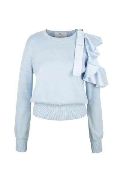 Sweater  With Details - Light Blue Sweater  With Details - Light Blue